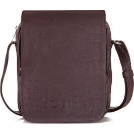 Pánská hnědá taška přes rameno Solier (Alsen SL32) velikost: univerzální, odstíny barev: hnědá