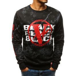 BASIC Bluza męska z nadrukiem czarna (bx3517) Velikost: M