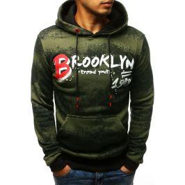 BASIC Zelená mikina Brooklyn (bx3542) Velikost: M
