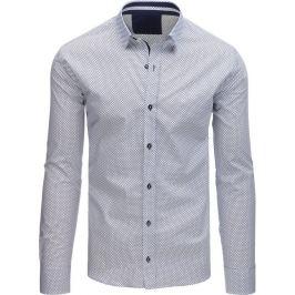 BASIC Bílá košile s puntíky (dx1509) Velikost: L