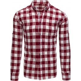 BASIC Bordó kostkovaná košile (dx1516) Velikost: XL