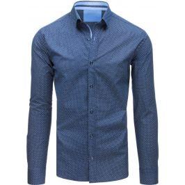 BASIC Modrá košile se vzorem (dx1506) Velikost: XL