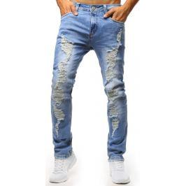 BASIC Modré distress džíny (ux1302) Velikost: 29