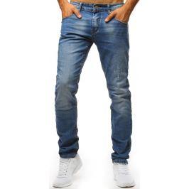 BASIC Modré džíny s roztrhanými detaily (ux1319) Velikost: 30