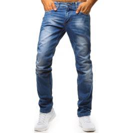 BASIC Modré džíny s barevným knoflíkem (ux1354) Velikost: 30