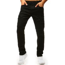 BASIC Černé kalhoty s kapsami na nohavicích (ux1365) Velikost: 30