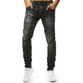 BASIC Černé džíny s dírami na kolenou (ux1323) Velikost: 28