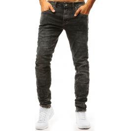 BASIC Černé řasené denimové kalhoty  (ux1324) Velikost: 28