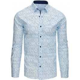 BASIC Originální pánská košile s karetním vzorem (dx1523) Velikost: L