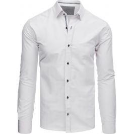 BASIC Bílá košile s hranatými knoflíky (dx1527) Velikost: L