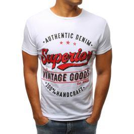BASIC Bílé tričko s potiskem (rx2966) Velikost: S