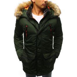 BASIC Pánská zimní bunda s oranžovými detaily (tx2332) Velikost: 2XL