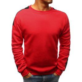 BASIC Červená mikina bez kapuce (bx3671) Velikost: M