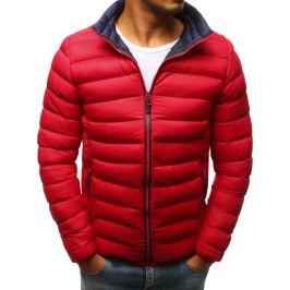 BASIC Pánská zimní bunda v červené barvě (tx2373) Velikost: M