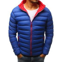 BASIC Pánská zimní bunda v modré barvě (tx2374) Velikost: M
