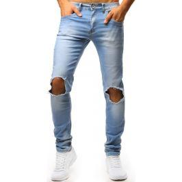 BASIC Modré džíny s otvory na kolenou (ux1351) Velikost: 28