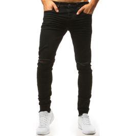BASIC Černé kalhoty s otvory na kolenou (ux1435) Velikost: 28