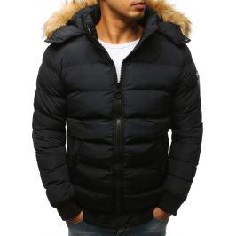 BASIC Černá zimní bunda s kožíškem (tx2315) Velikost: S