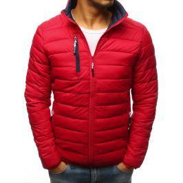 BASIC Červená prošívaná bunda (tx2391) Velikost: M