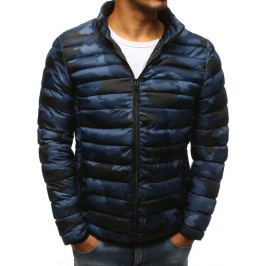 BASIC Tmavě modrá prošívaná camo bunda  (tx2429) Velikost: M