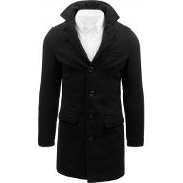 BASIC Černý pánský kabát s knoflíky (cx0386) Velikost: M
