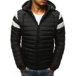 BASIC Černá bunda s bílými pruhy na rukávech (tx2398) Velikost: M