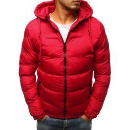 BASIC Červená zimní bunda s černým zipem (tx2406) Velikost: M