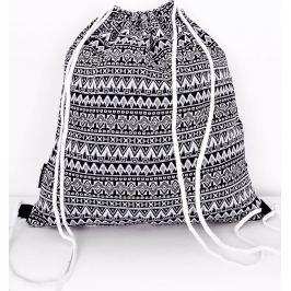 BASIC Černobílý textilní batoh ND5137 Velikost: univerzální