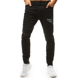 BASIC Černé džíny s výšivkou lebky (ux1472) Velikost: 29