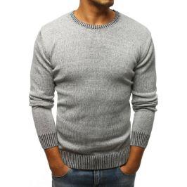 BASIC Pánský šedý svetr (wx1065) Velikost: S