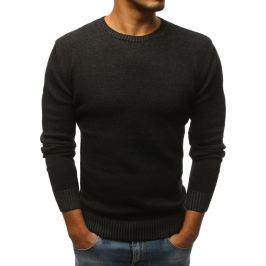 BASIC Pánský černý svetr (wx1066) Velikost: S