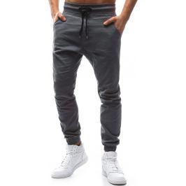 BASIC Pánské šedé stylové kalhoty (ux1134) Velikost: XL