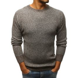 BASIC Hnědý pletený svetr (wx1100) Velikost: M