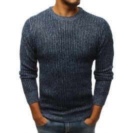 BASIC Modrý pletený svetr (wx1102) Velikost: M
