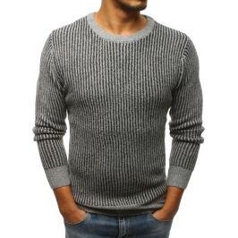 BASIC Světle šedý pletený svetr (wx1103) Velikost: M