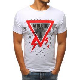 BASIC Bílé tričko s potiskem Athletic (rx2969) Velikost: S