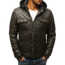 BASIC Khaki zimní koženková bunda (tx2431) Velikost: M
