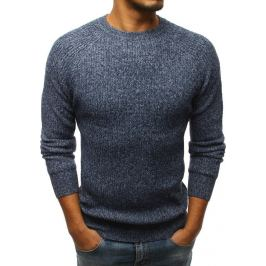 BASIC Pánský modrý svetr (wx1098) Velikost: M