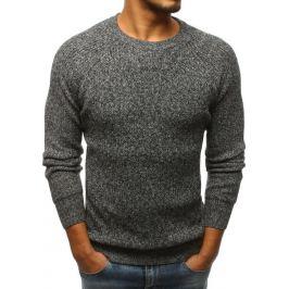 BASIC Pánský šedý svetr (wx1099) Velikost: M