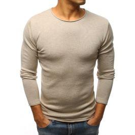 BASIC Béžový svetr bez potisku (wx1087) Velikost: S