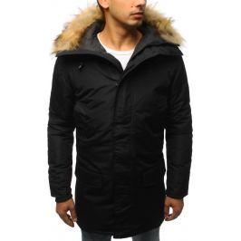 BASIC Pánská černá zimní bunda s kožichem (tx2437) Velikost: 2XL