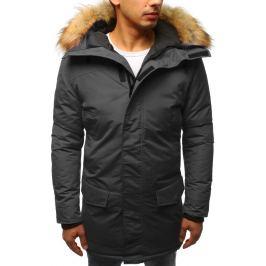 BASIC Pánská grafitová zimní bunda s kožichem (tx2442) Velikost: S