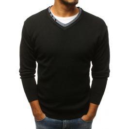 BASIC Černý svetr bez potisku (wx1124) Velikost: M