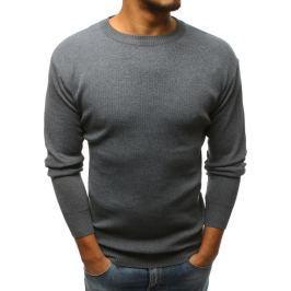 BASIC Šedý svetr bez potisku (wx1141) Velikost: M