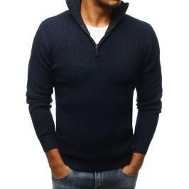 BASIC Modrý svetr bez potisku (wx1144) Velikost: M