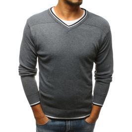 BASIC Šedý svetr bez potisku (wx1179) Velikost: M