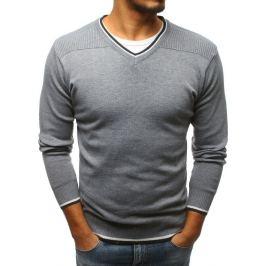 BASIC Světle šedý svetr bez potisku (wx1180) Velikost: XL