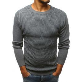 BASIC Šedý svetr bez potisku (wx1134) Velikost: M