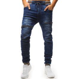 BASIC Modré jogger džíny se zipy (ux1481) Velikost: 29