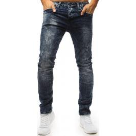 BASIC Modré džíny s distress detaily (ux1483) Velikost: 29